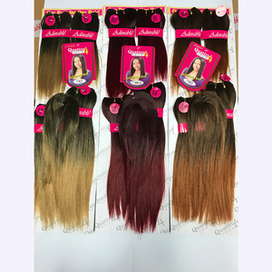 Wholesale Yaki Straight Pre Stretched Twin Braid Layered Ends Synthetic Braiding Soft Feather Crochet Braids Hair Extension
