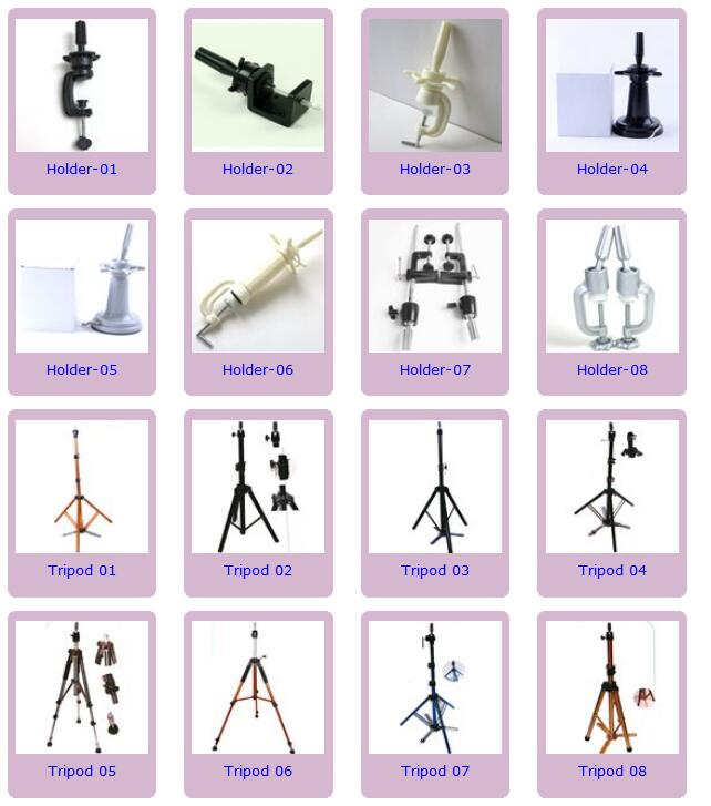 Professional Hair Salon Adjustable Mannequin Head Wig Stand Holder Mannequin Head Stand Tripod