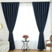 Luxury dubai home window cotton curtain for living room