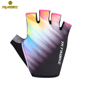 YKYWBIKE wholesale Breathable Half Finger Out Orange Cycling Riding Racing Bike Bicycle Gloves