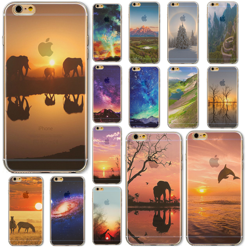 Hot Sale Beautiful Lake Case For iPhone 6 4 7 For 6s Phone Soft Thin Case