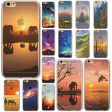 """Hot Sale Beautiful Lake For iPhone 6 4.7″Inch"""" Phone Soft Thin Case Cover  Color Painted Mobile Phone Accessory Back Case"""