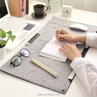 2018 Hot sale felt pad for notebook wool game mouse pad cute mouse mat