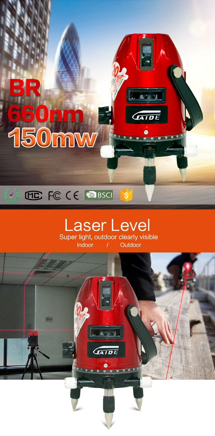small horizontal laser line laser level machine tools oem