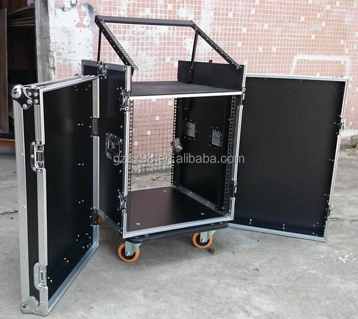 Professional audio mixer flight case rack with 3 doors buy flight case rack - Fabriquer flight case ...