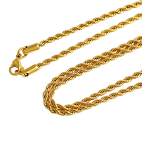 42884 xuping fashion necklace 24K gold color Stainless Steel Jewelry Luxury necklace