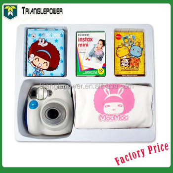 86ae44101d97 Beautiful Gift Package Fujifilm Instax Mini 7s Instant Film Blue Color  Camera