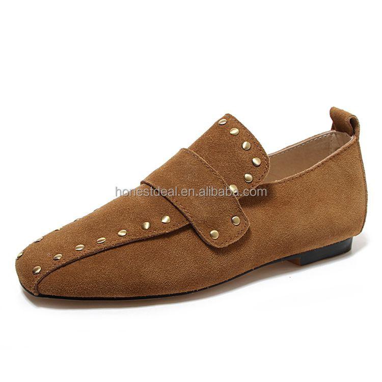 office shoes 2017 suede ladies wholesale shoes flat slip on Women's 6UYzq0Fww