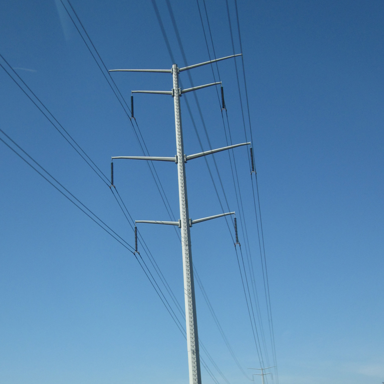 9m 350daN Steel Conical Octagonal <strong>Electricity</strong> Poles HDG