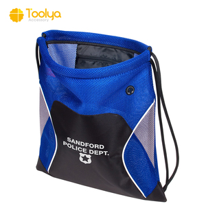 Wholesale recyclable promotional event project eco small nylon drawstring mesh bag