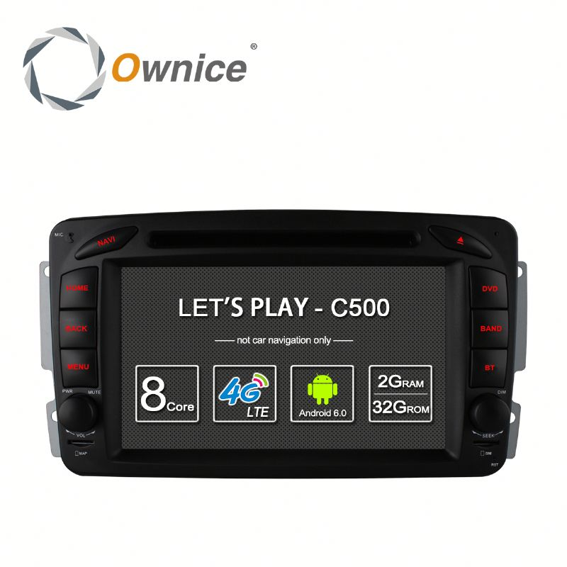 Android 6.0 8 core Ownice C500 DVD automotive for Mercedes Benz C Class with wifi GPS NAVI support DAB TMPS 4G LTE