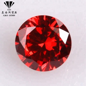 Synthetic round big 2.25mm cubic zirconia price ruby gem stones