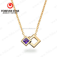 2017 New Product 18K Yellow Gold Light Weight Simple Gold Chain Necklace Designs