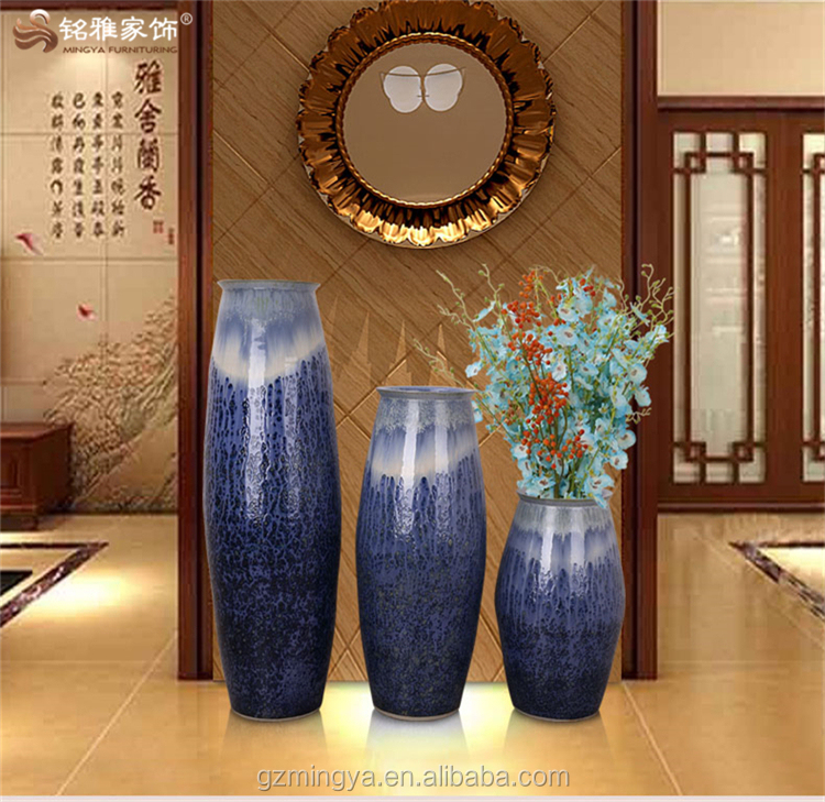 indoor jingdezhen floor vase large ceramic for hotel lobby front desk garden floor decor