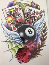 NOVA CHEGADA 21X15 CM Bolas e cartões de Tatuagem Temporária Adesivos Arte Corporal Temporária À Prova D' Água #136