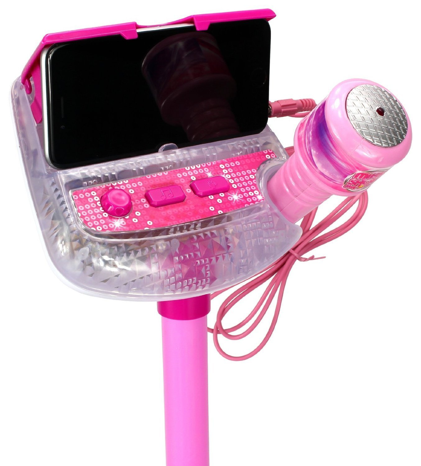 Kids Sing Along Mp3 Karaoke Machine with Microphone and Adjustable Stand