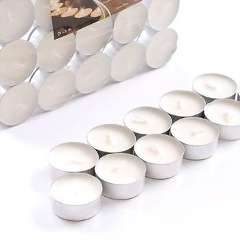 White Color and Tea Light candles tealight candle For Massage Use
