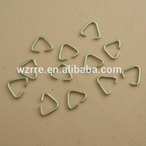 Hot sale metal triangle bucket keychain part keyring part