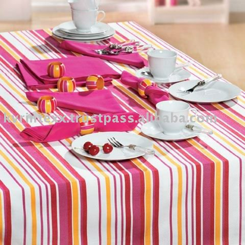 100% Cotton Striped Printed Cheap Table Cloth