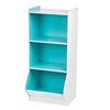2016 blue and white design solid wood bookcase furniture