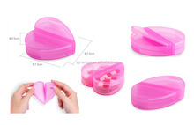 one day 4case heart shape pill container pill case medicine box