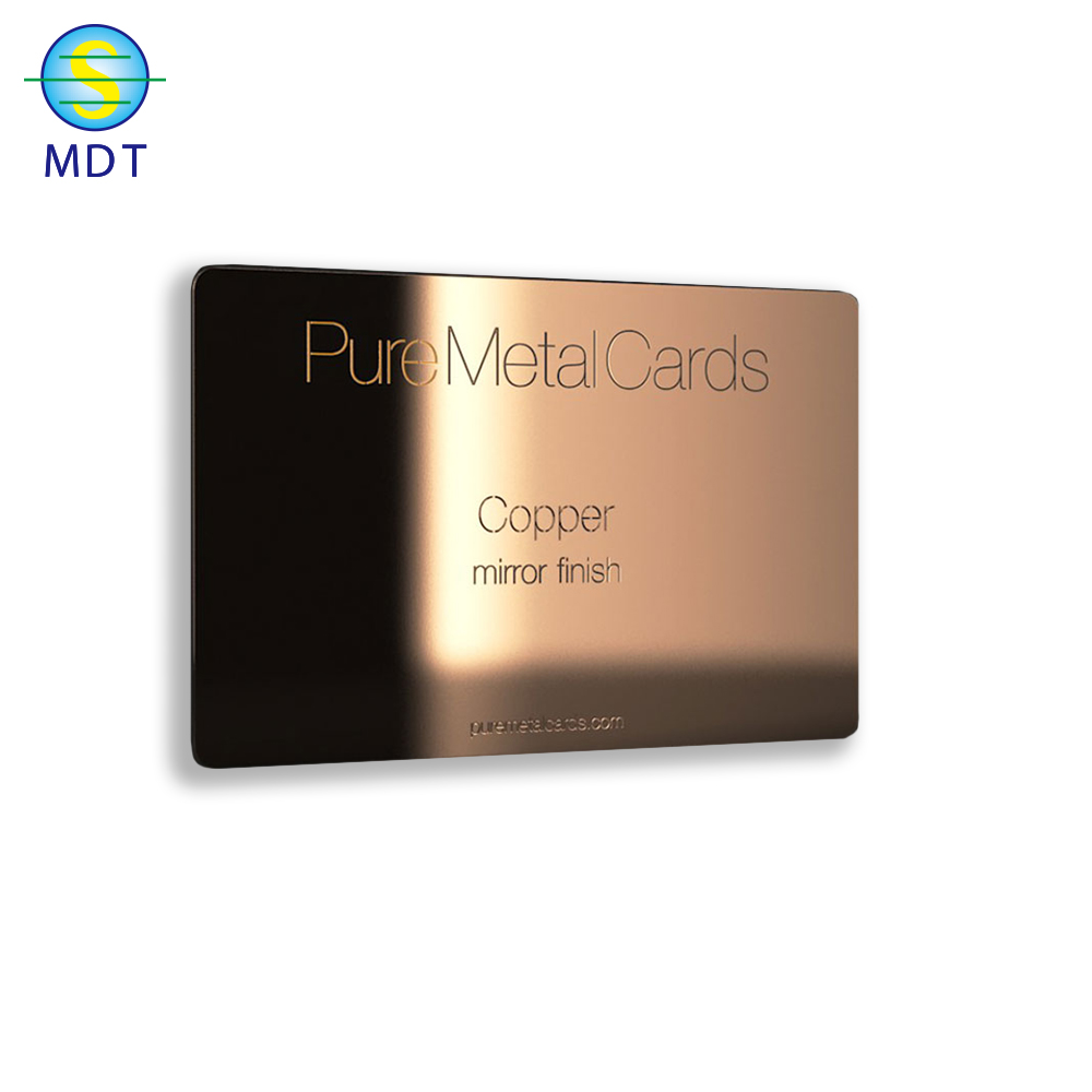 싼 custom stainless steel gold metal/black/business card