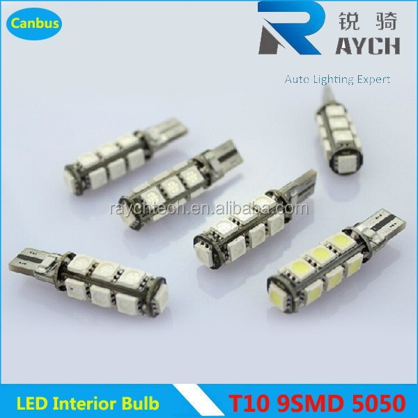 hot sale T10 canbus 9SMD 5050 led car lamp, no error w5w 194 canbus led, t10 5w5 canbus car led auto bulb new hottest sale t10