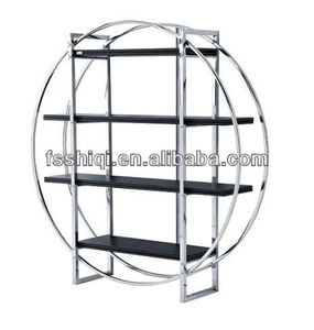 Stainless steel round bookcase(K-20)