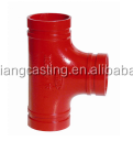 FM/UL/ISO/CCC approved Mechanical Tee Threaded Outlet Ductile Iron Grooved Pipe Fittings 2 1/2*1 1/2
