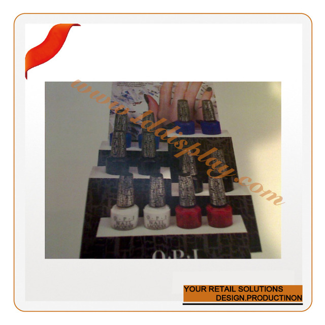 Custom cardboard essie nail polish display rack