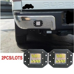 Pair 18W FLUSH MOUNT LED WORK LIGHT 12V 24V Rear Fog Lamp 4X4 Offroad Trailer Truck ATV Car Pickup Tractor SUV Bumper Work Light