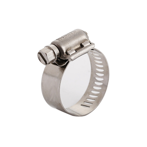 Manufacturer Prices Stainless Steel Adjustable American Type hose clamp W1 Galvanized Steel Worm-drive Clamp For Pipe Coupling