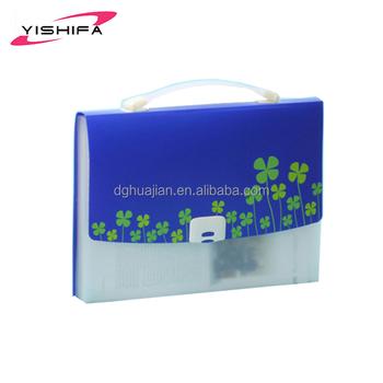 Handmade PP Good Price Plastic Cover Decoration File Folder Expanding Folders