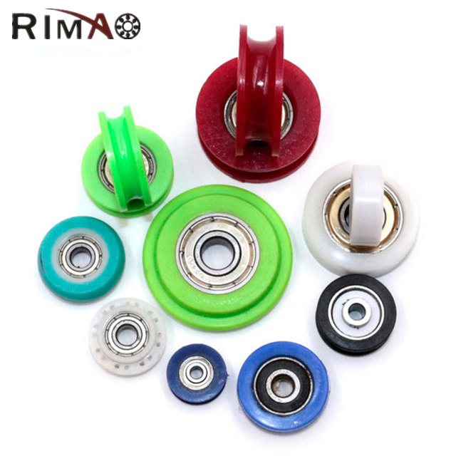 608 ball bearing wheel coated plastic bearing window pulley