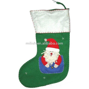 christmas santa claus fancy stockings/stocking for christmas