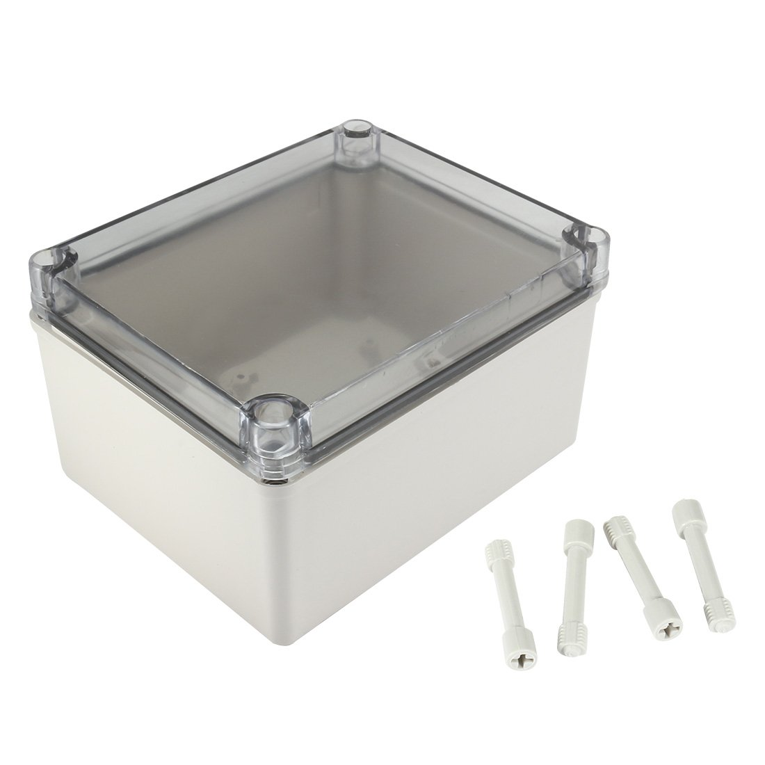 """uxcell 5.5""""x6.7""""x3.7""""(140mmx170mmx95mm)ABS Junction Box Universal Project Enclosure w PC Transparent Cover"""