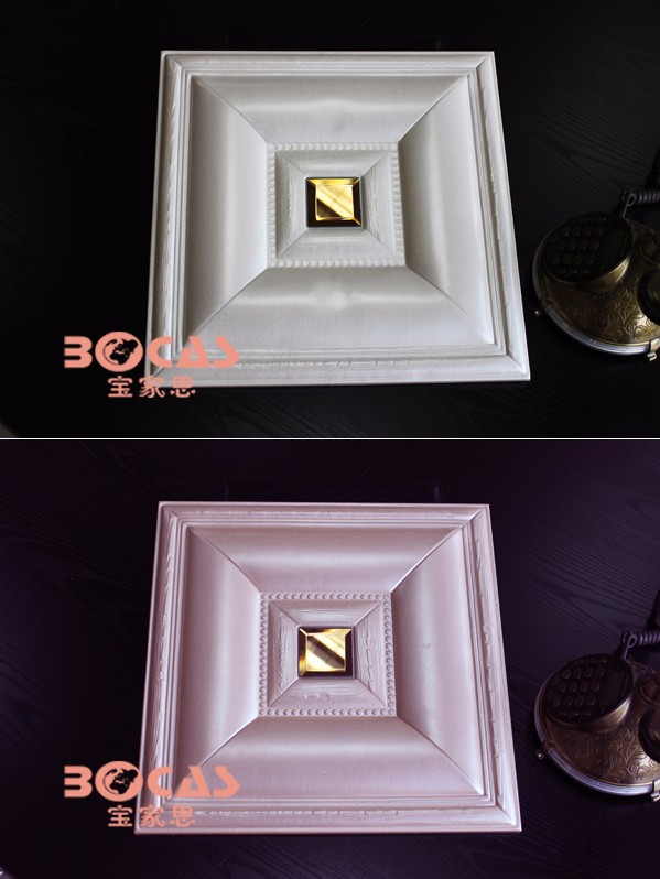3D Empaistic PU Leather Wall Ceiling Panel for Living Room sofa TV back ground