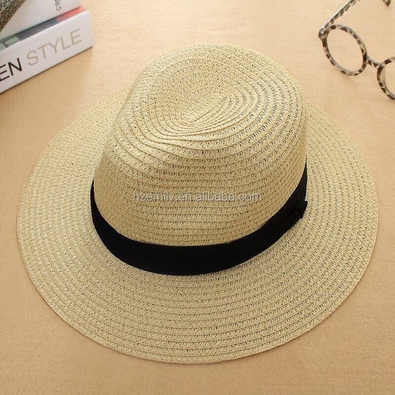 789ba6729cd3d Playa del verano de paja sombrero Panamá visera sombrero Panamá tradicional  de tejido a