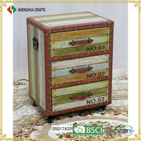 Rustic Antique Tall Vintage Narrow Storage Cabinet