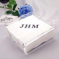 Clear Acrylic Cocktail Napkin Holders / wedding reception ideas