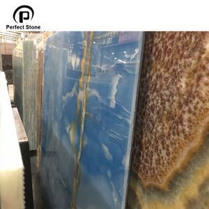 Ocean blue onyx big slab with yellow vein