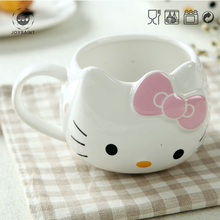 Hot sale pink kitty for sublimation kids cat mug as gifts hello kitty pattern mug