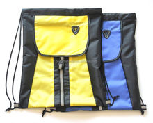 Promotional 210D nylon drawstring sports sacks cinch back pack for team activity