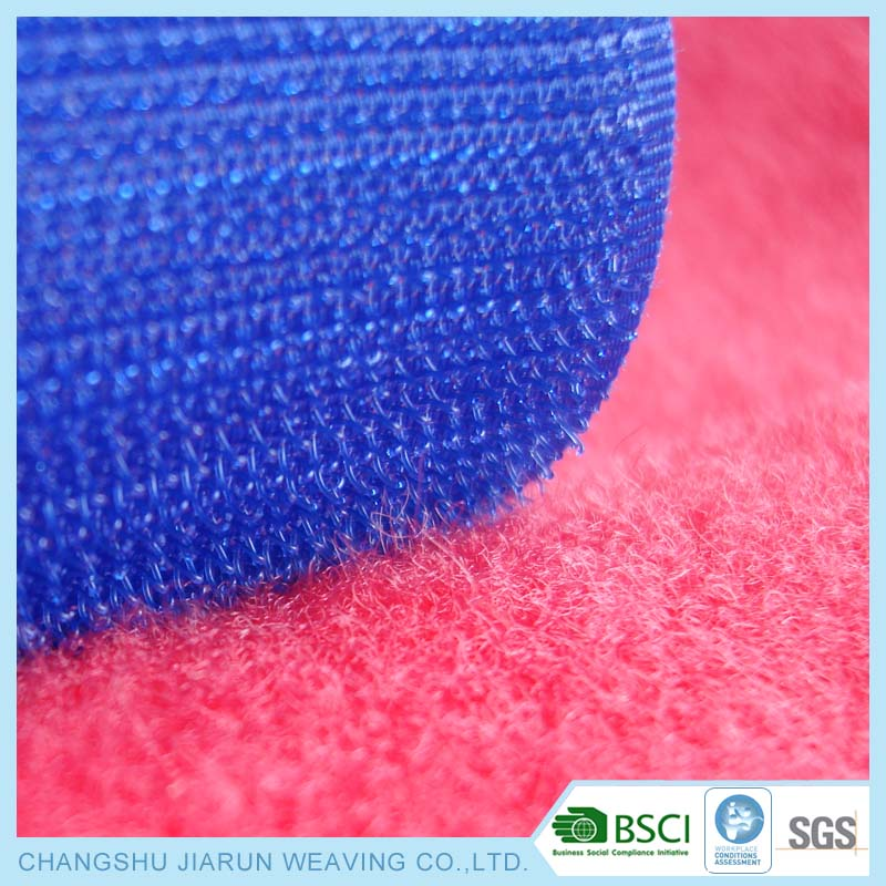 Hotting BSCI manufacturer adhesive Loop Side brushed nylon tricot fabric