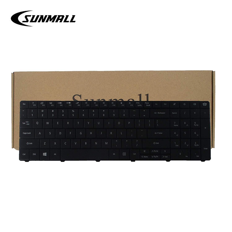 SUNMALL Keyboard Replacement for Gateway NE51B NE522 NE722 NV570P NE56 NE56R NE71B NE56R48u NE56R41u NE56R42u NE56R43u NE56R45u NE56R31U NE56R34U Series Laptop Black US Layout(6 Months Warranty)