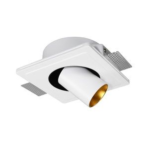China wholesale gypsum indoor recessed trimless ceiling cob rotation lighting round small led light downlight spotlight