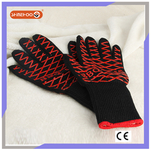 SHINEHOO Heat Insulated BBQ Silicone Gloves For Candy Making
