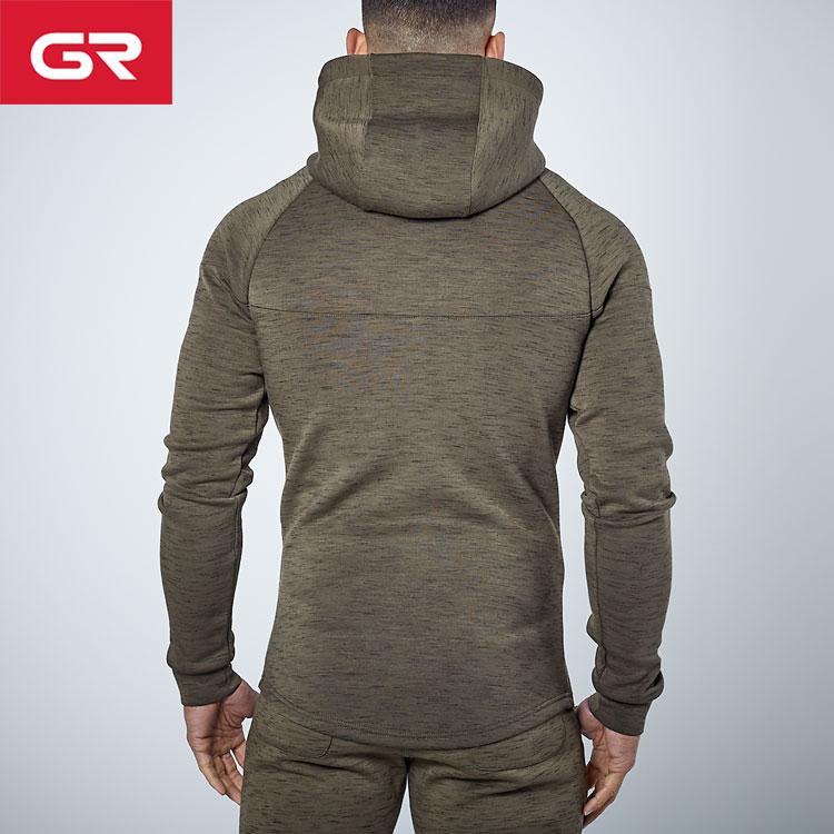 Custom Tech Fleece Slim Fit Raglan Long Sleeve Zip Up Mens Tracksuit Hoodie