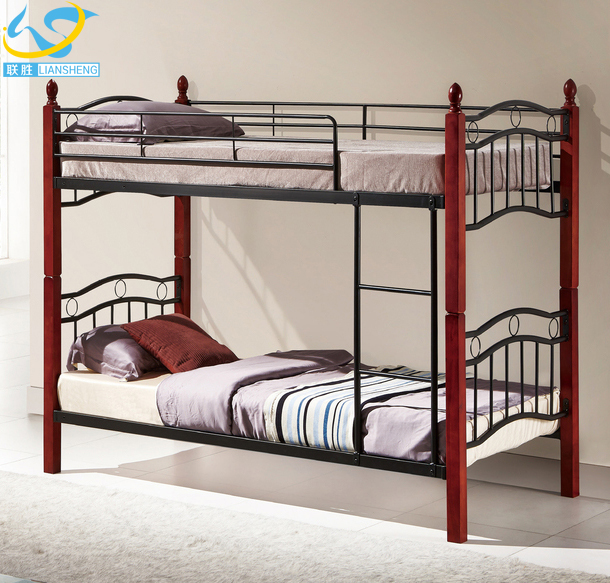Factory direct supplier wrought iron bunk bed frame modern