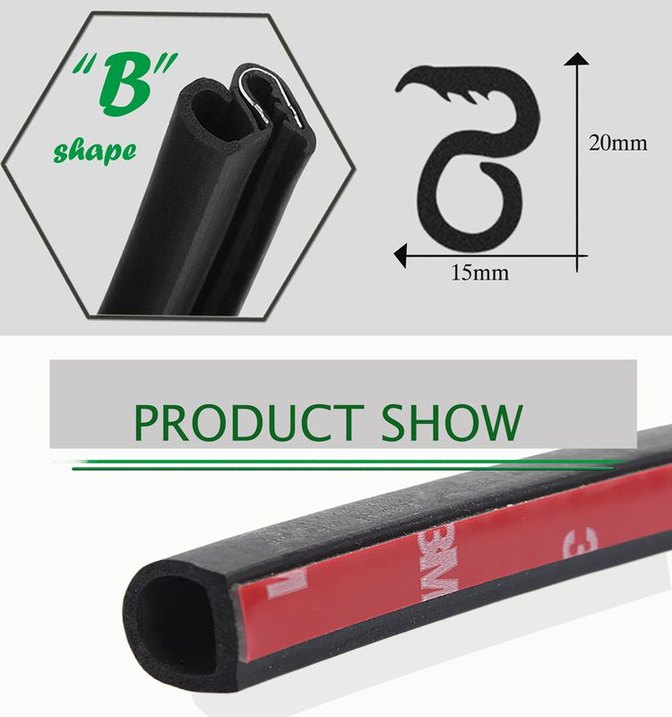 4 door rubber sealing weatherstrip for car